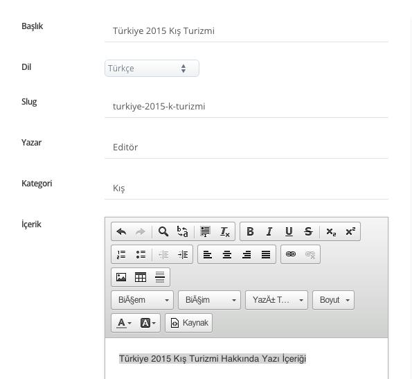 Blog Yazısı Ekleme